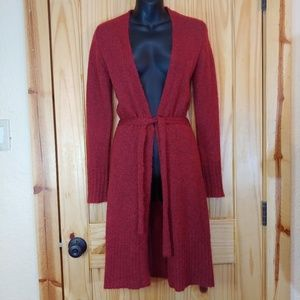 Express Long Red Cardigan